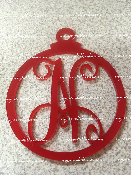 RED ACRYLIC CHRISTMAS ORNAMENTS  N