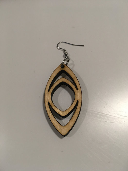 Oval Eye Earrings