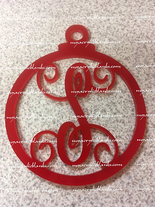 RED ACRYLIC CHRISTMAS ORNAMENT  S
