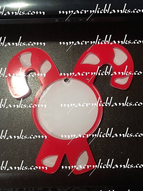 CANDY CANES MONOGRAMABLE ORN