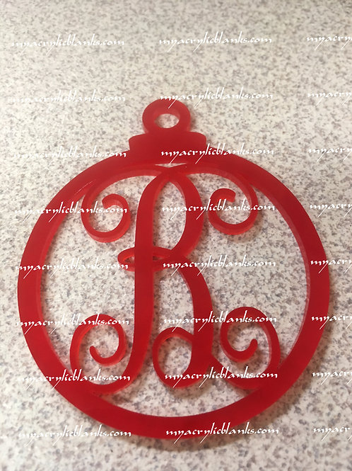 RED ACRYLIC CHRISTMAS ORNAMENT  B