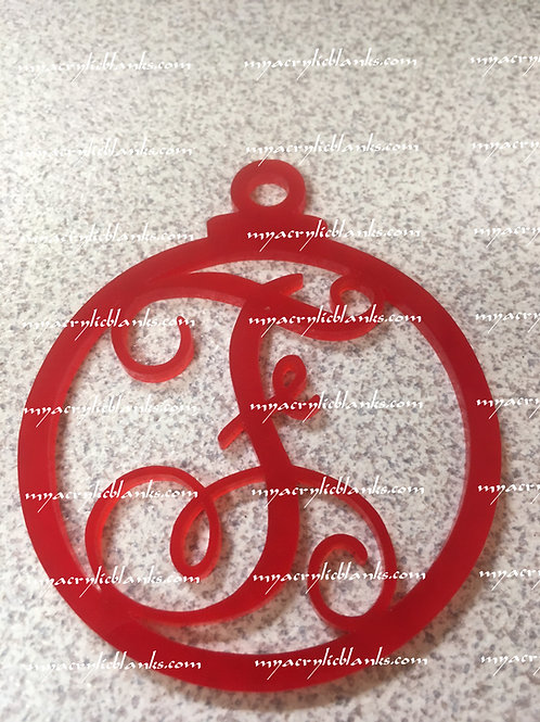RED ACRYLIC CHRISTMAS ORNAMENT  F