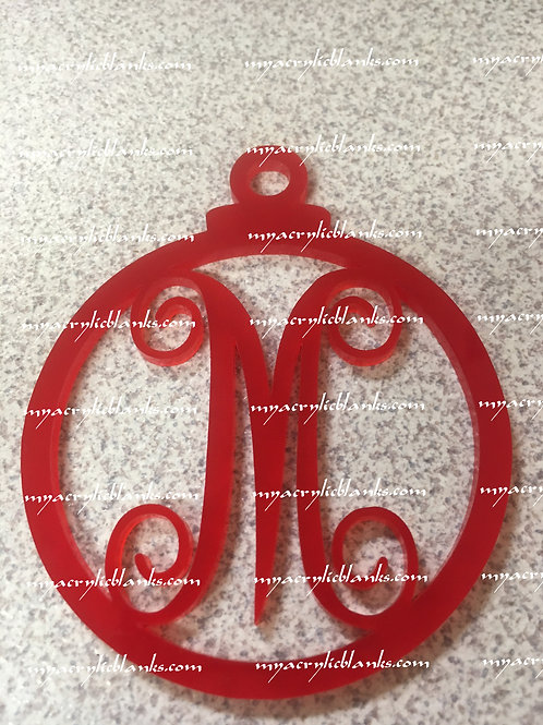RED ACRYLIC CHRISTMAS ORNAMENT  M