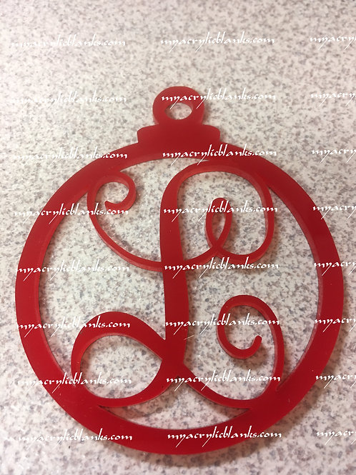 RED ACRYLIC CHRISTMAS ORNAMENTS  L