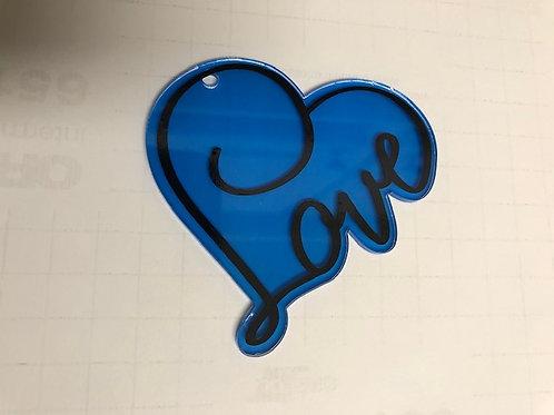 LOVE HEART KEYCHAIN BLANK