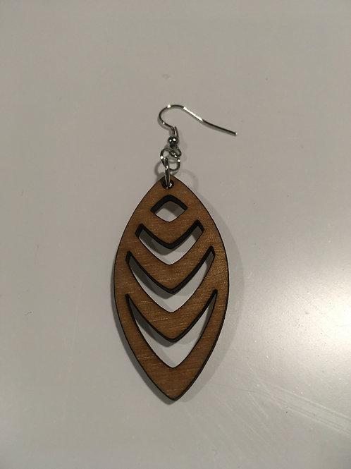 Oval Down Earrings