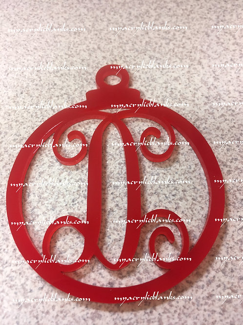 RED ACRYLIC CHRISTMAS ORNAMENT  D