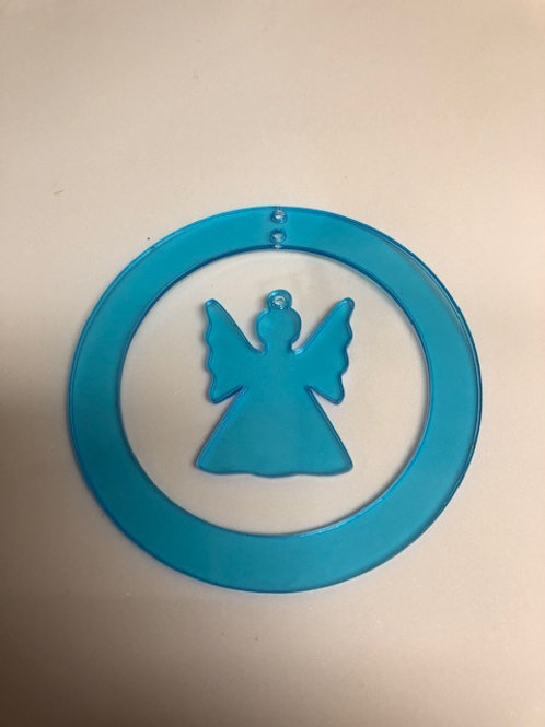 DANGLE CIRCLE ORNAMENT WITH ANGEL