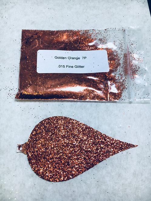 7-P  GOLDEN ORNAGE GLITTER