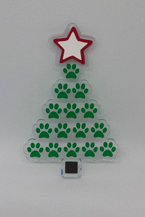 PAW CHRISTMAS TREE ORNAMENT