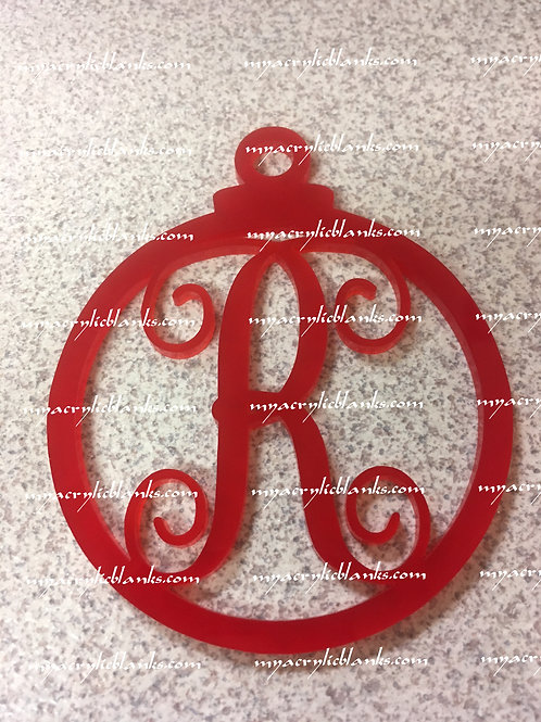 RED ACRYLIC CHRISTMAS ORNAMENT  R