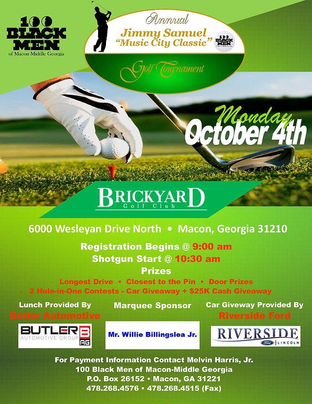 100 Black Men of Macon-Middle George - 13th Annual Golf Tournament - 09-17-2021 - Blue Pri