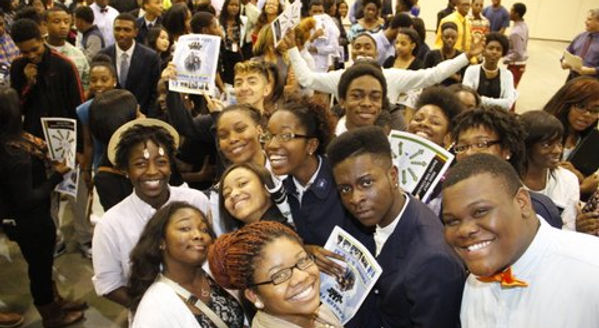 100 Black Men - Group Picture with Young