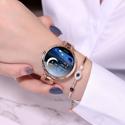 Fashion Waterproof  Heart Rate Monitor Sports Smartwatch for Womens