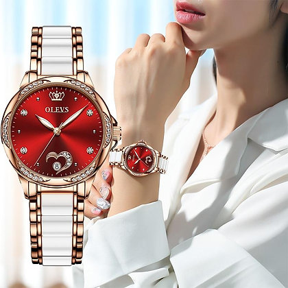 Women watch Set Waterproof Automatic Mechanical watch Female Ceramic