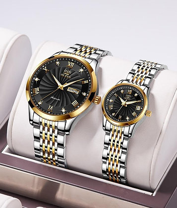 Couple Watch Luxury Automatic Mechanical Watch Stainless Steel