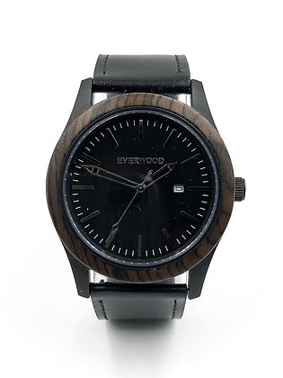 Inverness   Walnut   Black Leather