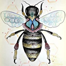 homesweetholly 🛍 #bee #savethebees #illustration #natureart #artist #n