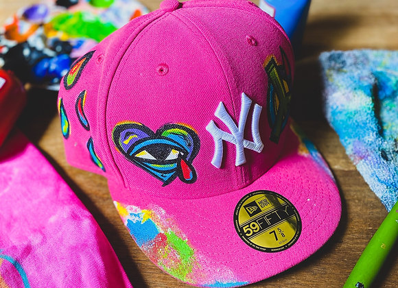 'LOVE & PEACE' Yankee New Era Custom Fitted