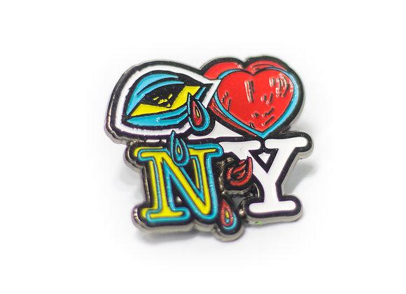 'Eye Love NY' Soft Enamel Pin