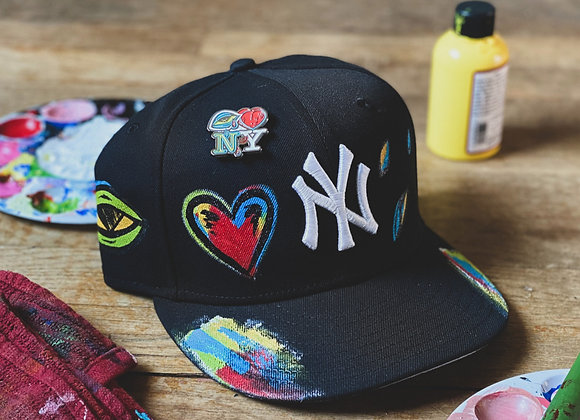 'Eye Love NY' Yankee New Era Custom Fitted Black
