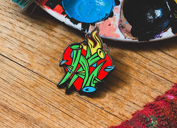 'Sacred Heart' Hard Enamel Pin