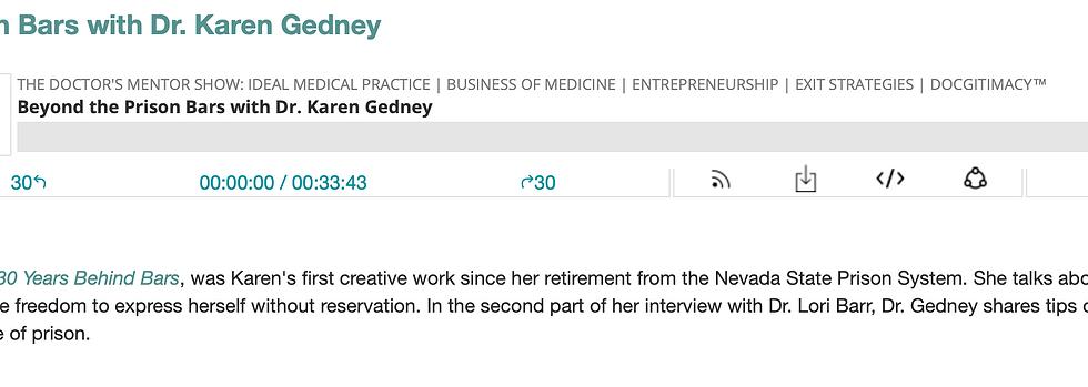 Beyond the Prison Bars with Dr. Karen Gedney
