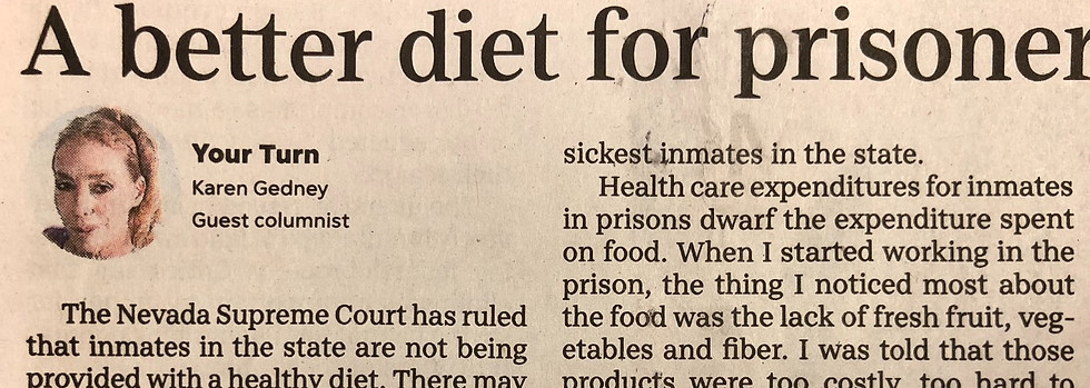 A Better Diet For Prisoners Would Be A Win For All