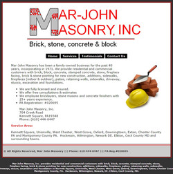 MarJohn Masonary - Kennett Square, PA