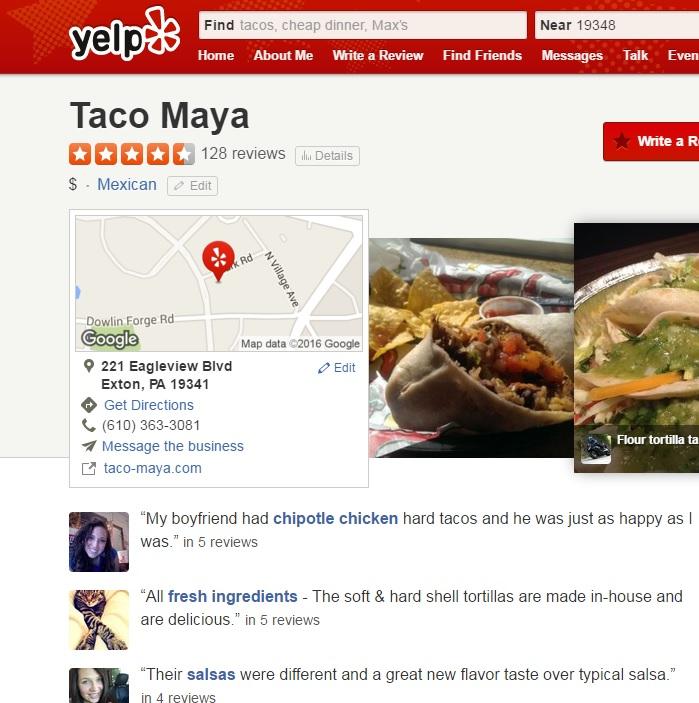 taco maya - yelp square