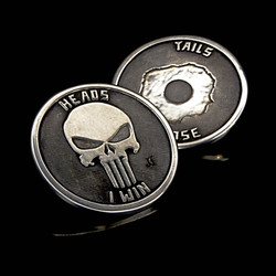 Punisher Challenge coin silver