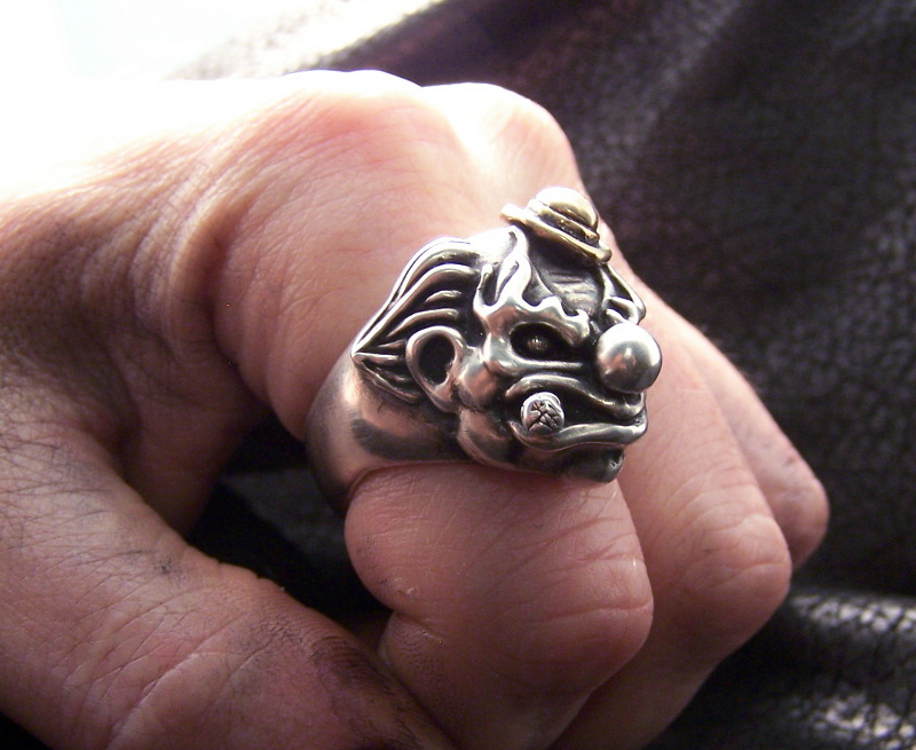 Stogey The Clown Ring Silver F