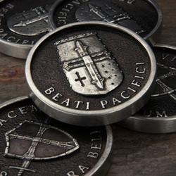 Crusader Challenge coin pewter