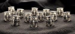 Silver Crusader Beads