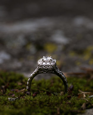 Gorgeous engagement ring in moss