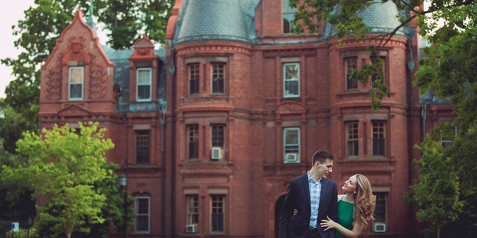 Summer Engagement photosession at Wellesley College, by Xenia Helix Photography