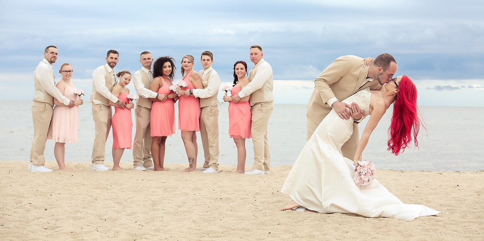 Beautiful beach wedding in MA, bridal party swssion idea, by Xenia Helix Photogrphy