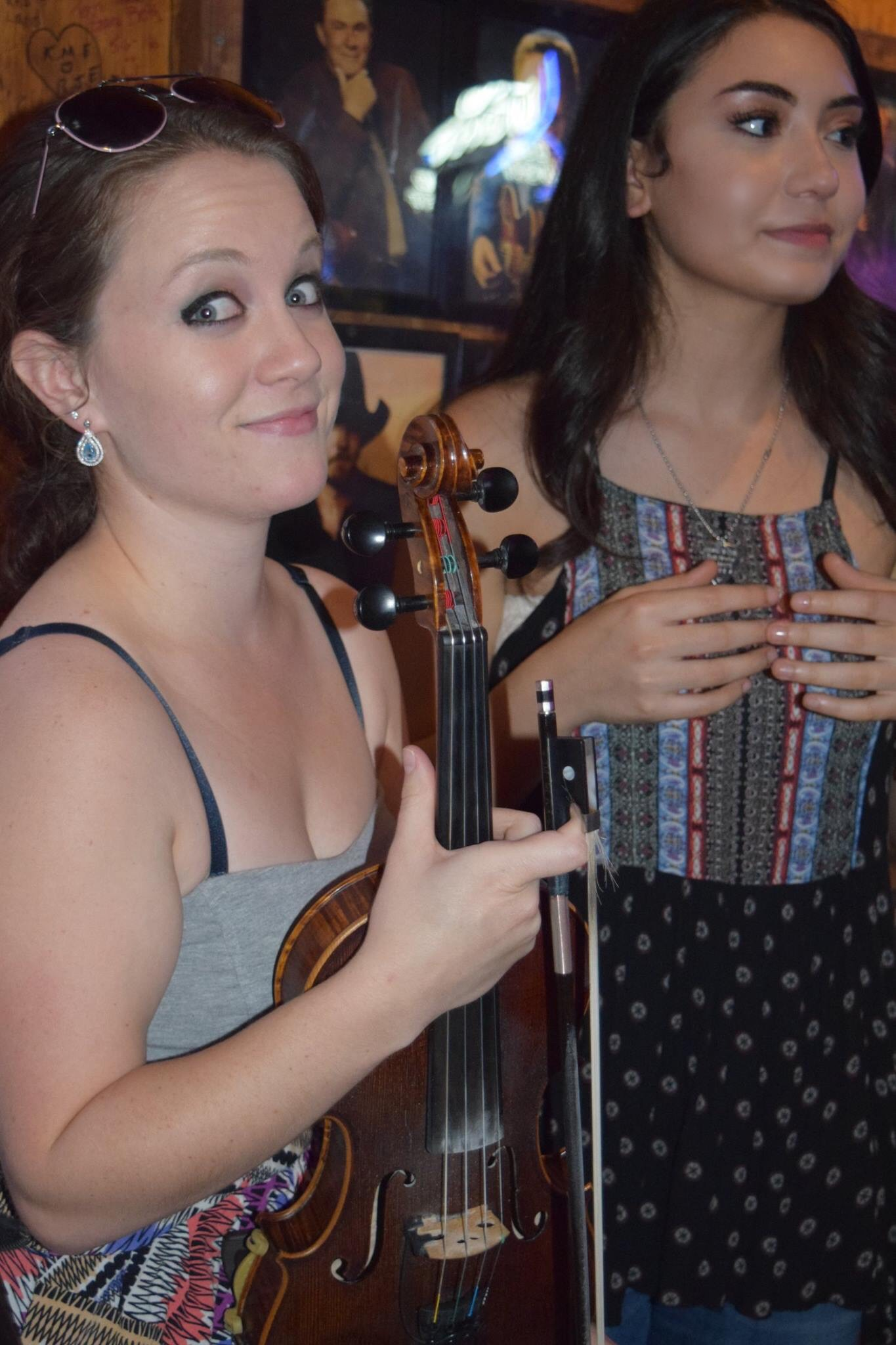 Brianna & fiddle player Catrina Joy