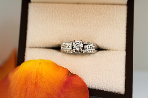 Solitaire Ring and Wrap