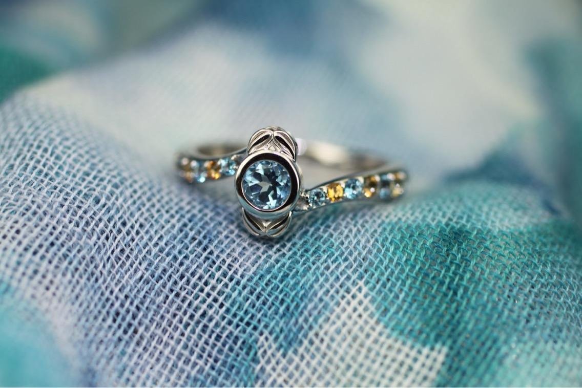 Mediterranean Style Custom Ring