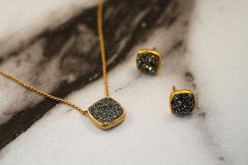 Noir Druzy Necklace