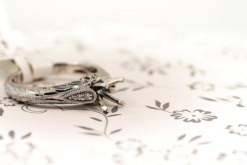 Vintage Sculptural Engagement Ring
