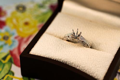 Grand Estates Floral Engagement Ring