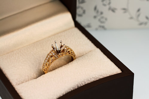 Yellow Gold Sculptural Engagement Ring
