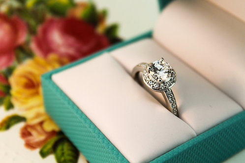 Halo Semi-Mount Engagement Ring