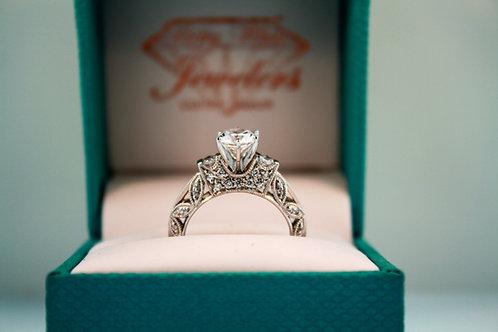 Royal Vintage Semi- Engagement Ring