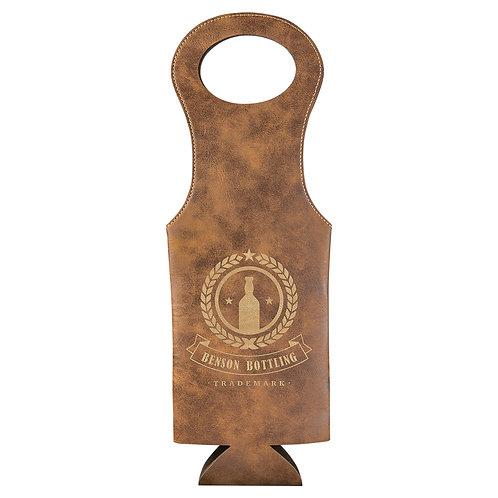 Leatherette Wine Bag