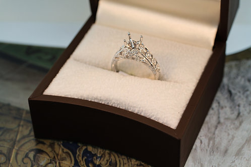 Vintage Engagement Ring Semi-Mount