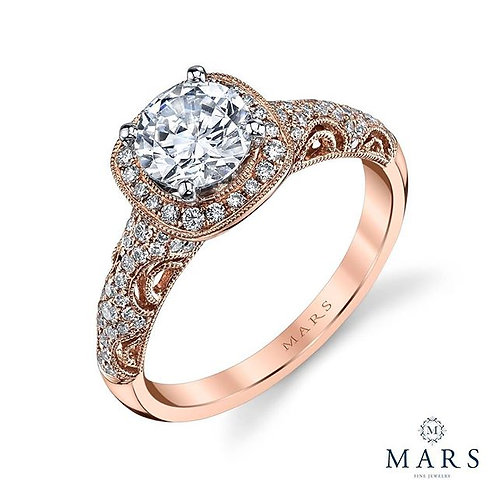 Rebel Hearts Halo Engagement Ring