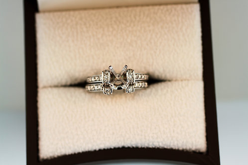 Semi-Mount Engagement Ring and Band
